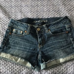 American Eagle stretch shorts.